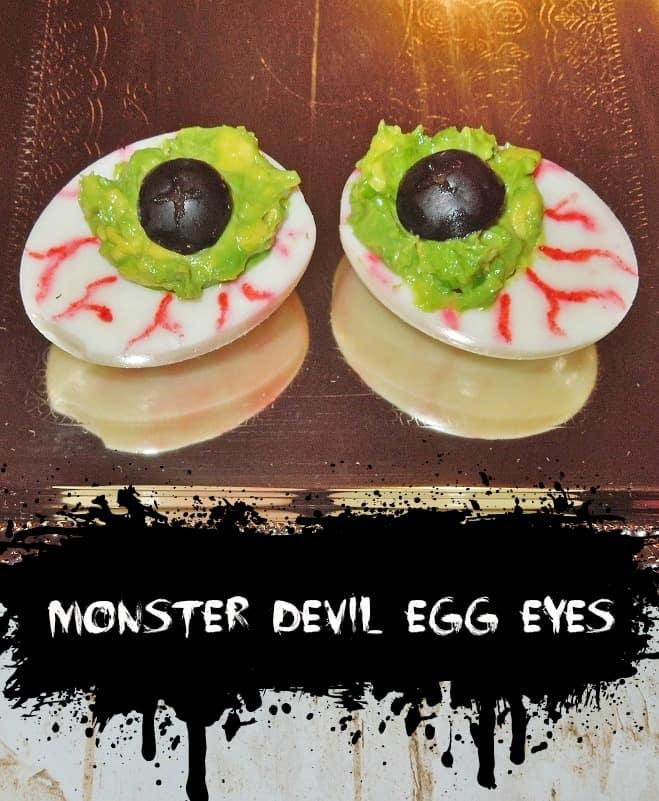 halloween monster devil egg eyes