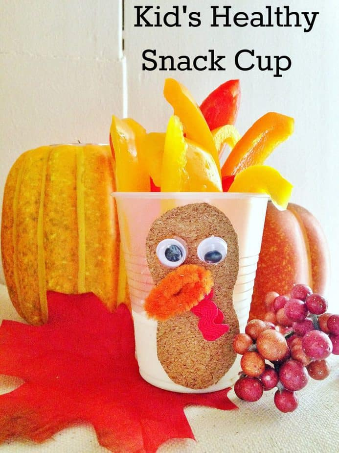 kids healthy turkey snack cup