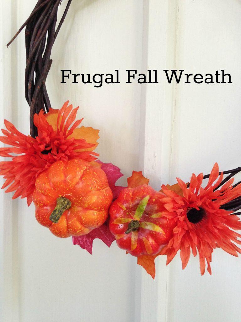 DIY frugal fall wreath tutorial