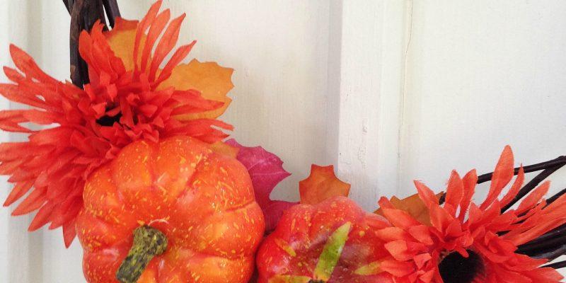 Dollar Store DIY: Frugal Fall Wreath Tutorial