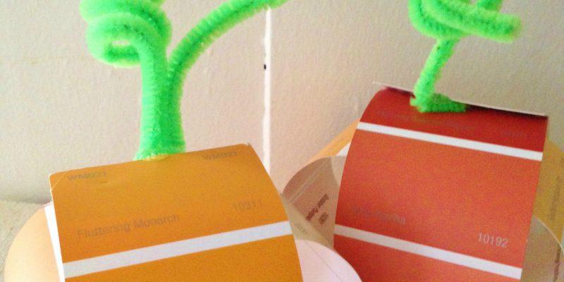 Paint Chip Pumpkins Craft for Kids