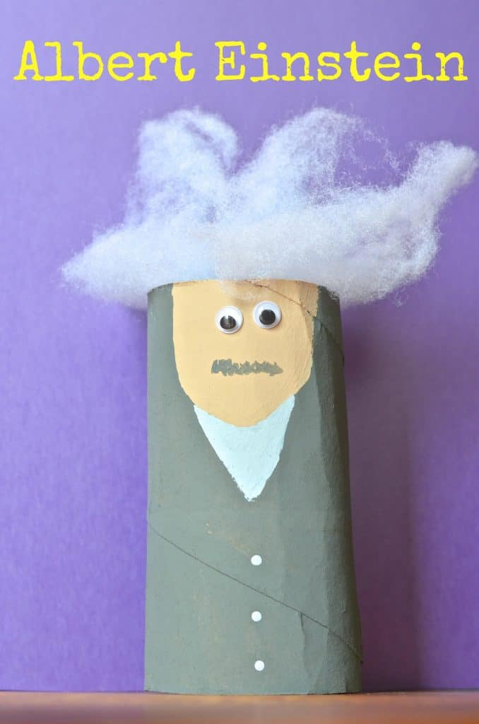 Albert Einstein Toilet Paper Tube kids craft