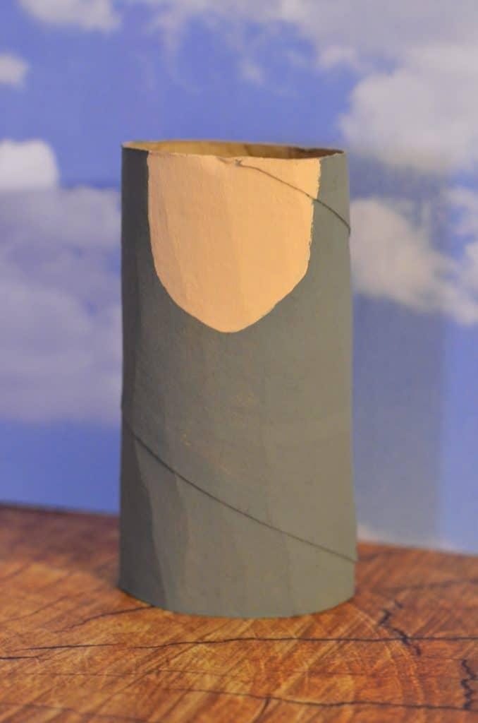 Albert Einstein recycled Toilet Paper Tube craft for kids