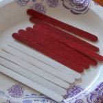patriotic american flag craft stick craft for kids