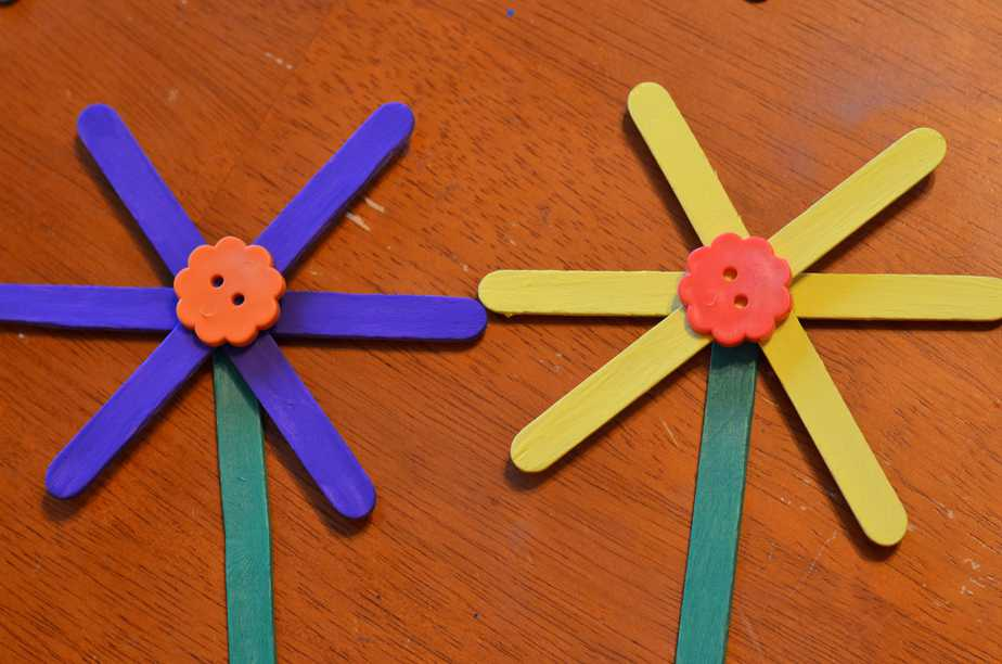 Easy Flower Craft Stick Craft For Kids Surviving A