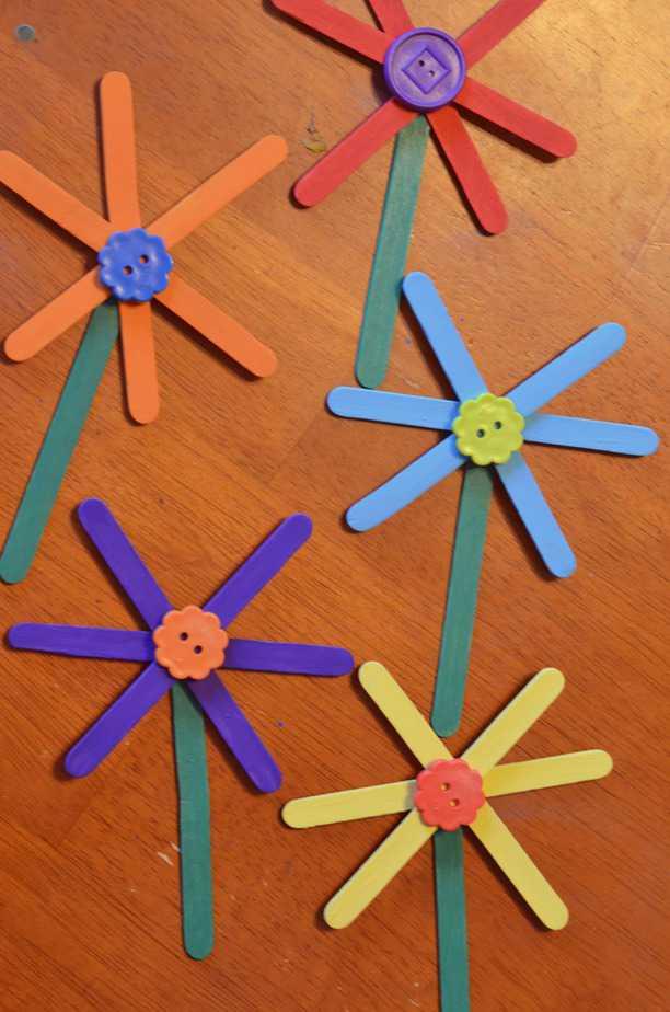 Flower Craft Stick Spring For Kids