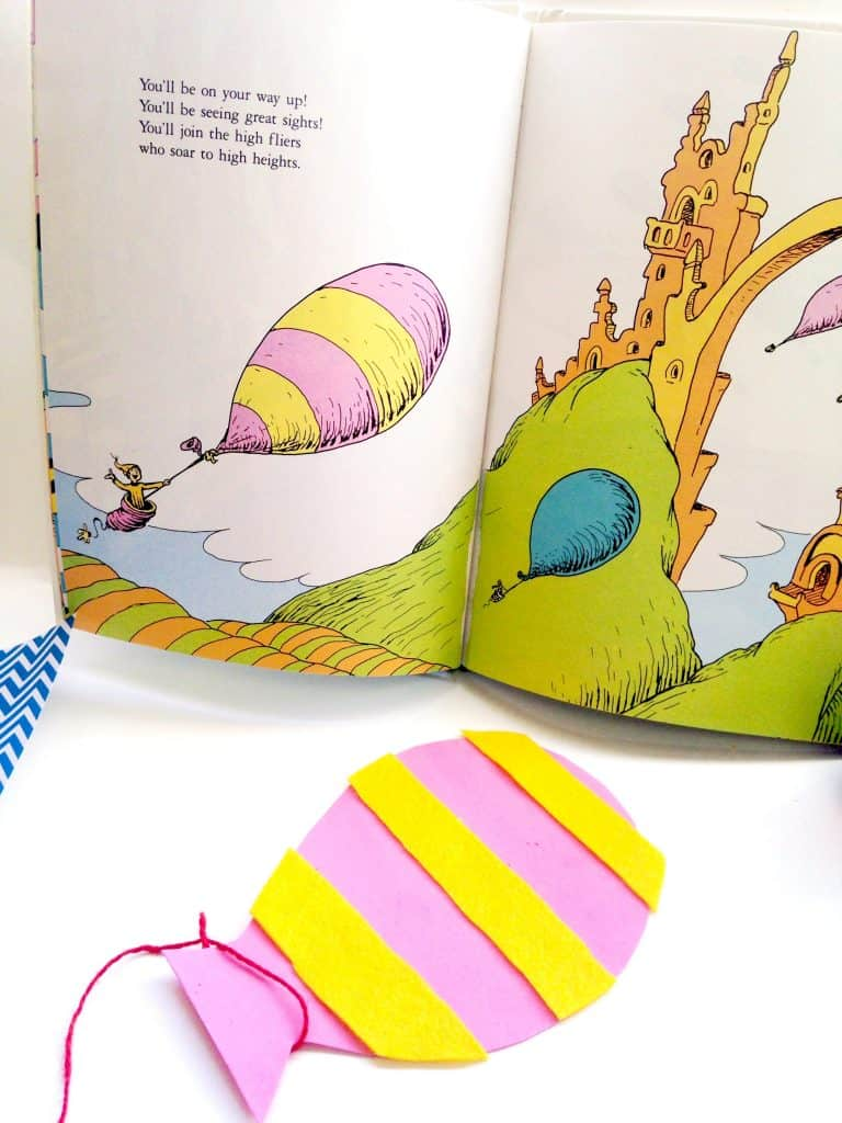 Dr Seuss Oh the Places You'll Go Craft for Kids