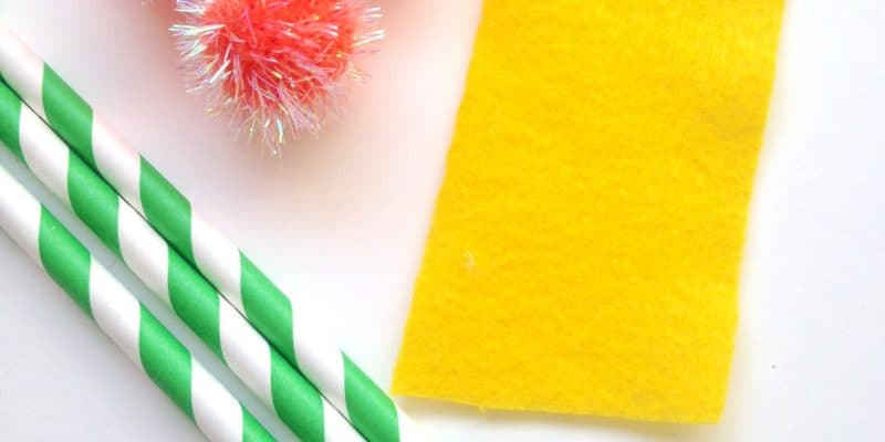 Dr. Seuss The Lorax inspired Straws – Crafts for Kids