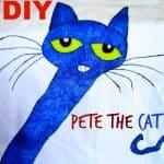 DIY Pete the Cat kids Tshirt Tutorial Craft