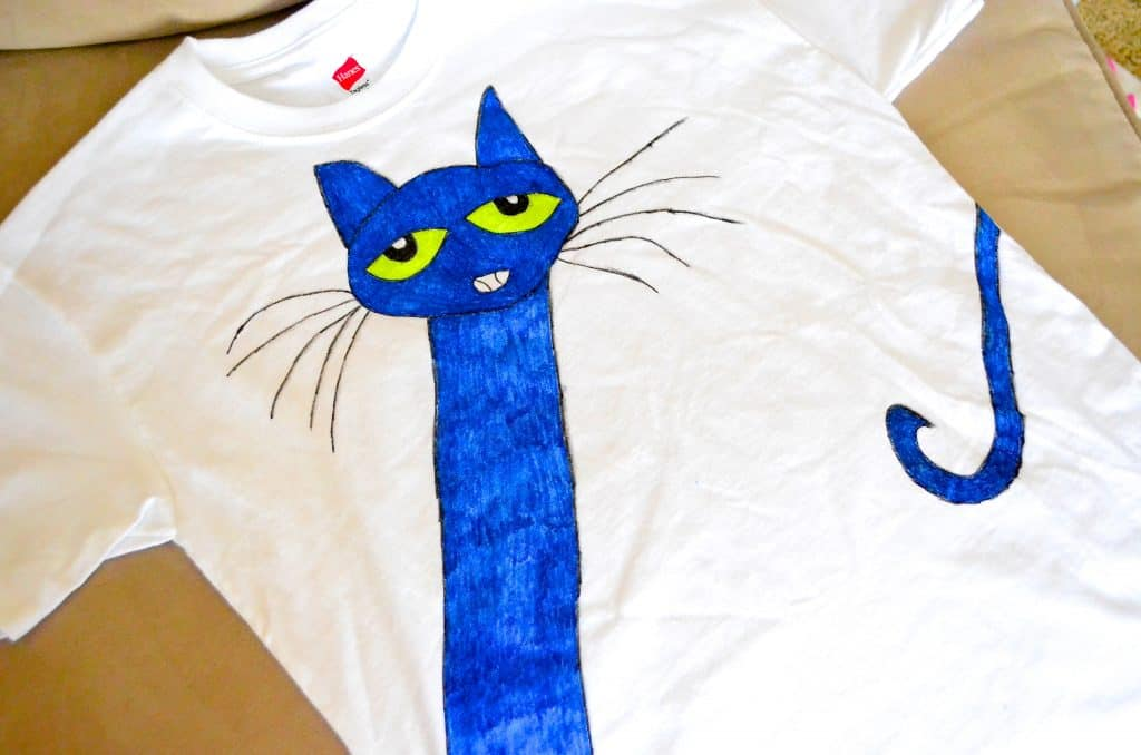 Pete the Cat kids Tshirt Tutorial Craft