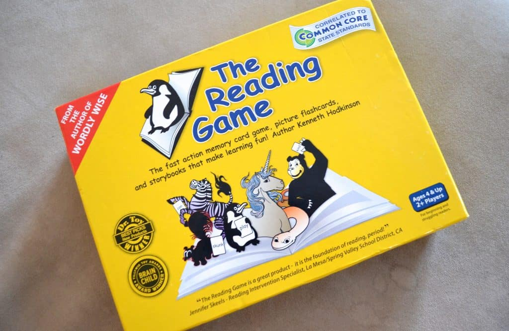 The Reading Game review for kids learning to read