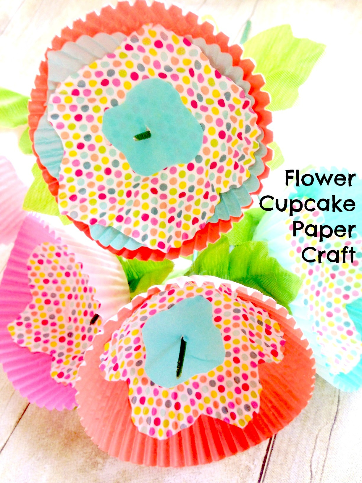 Spring cupcake cup paper bouquet craft jeuxipadfo Gallery