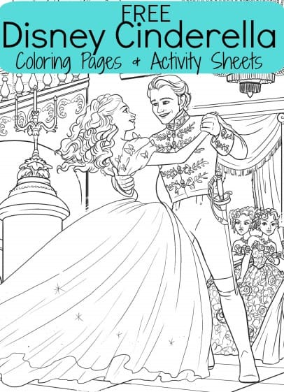 FREE Disney\'s Cinderella Coloring Sheets & Activities for Kids ...