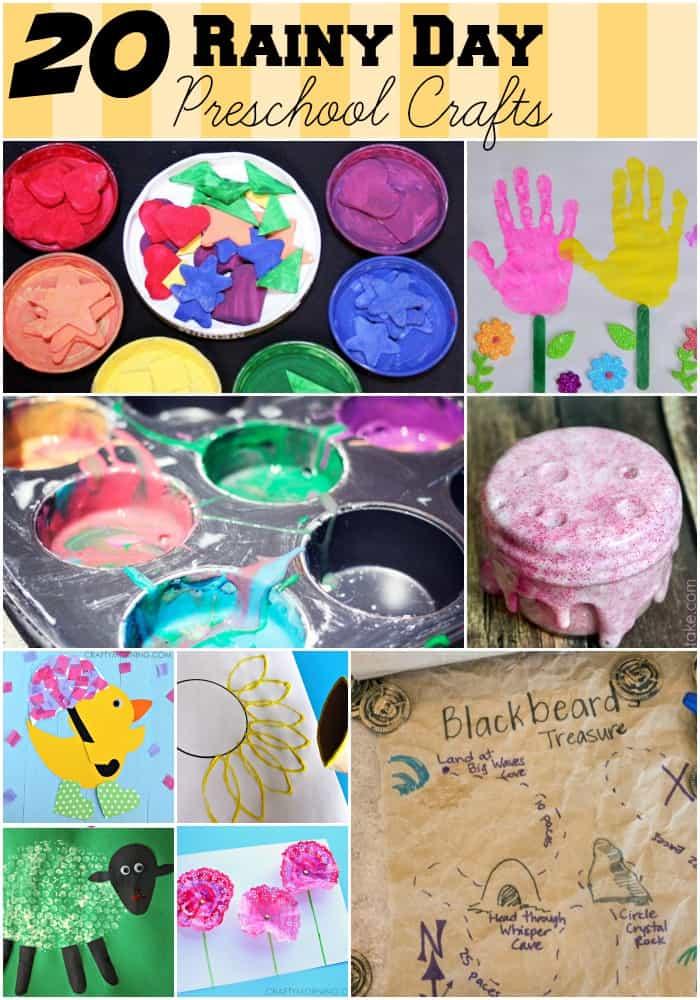 20 rainy day activities for preschoolers kids