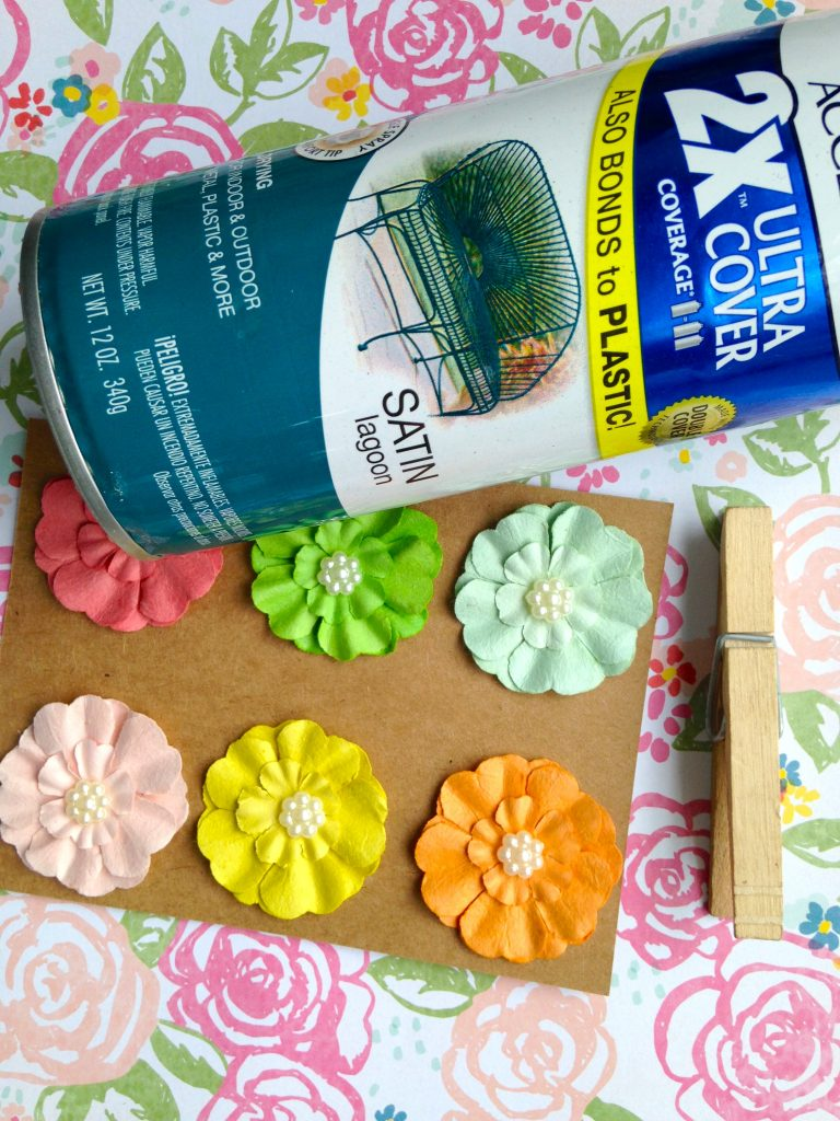 Spring Clothespin Decor Craft