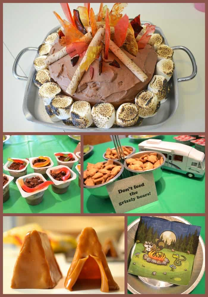 Campfire camping birthday party ideas for kids tutorials for Diy party games for adults