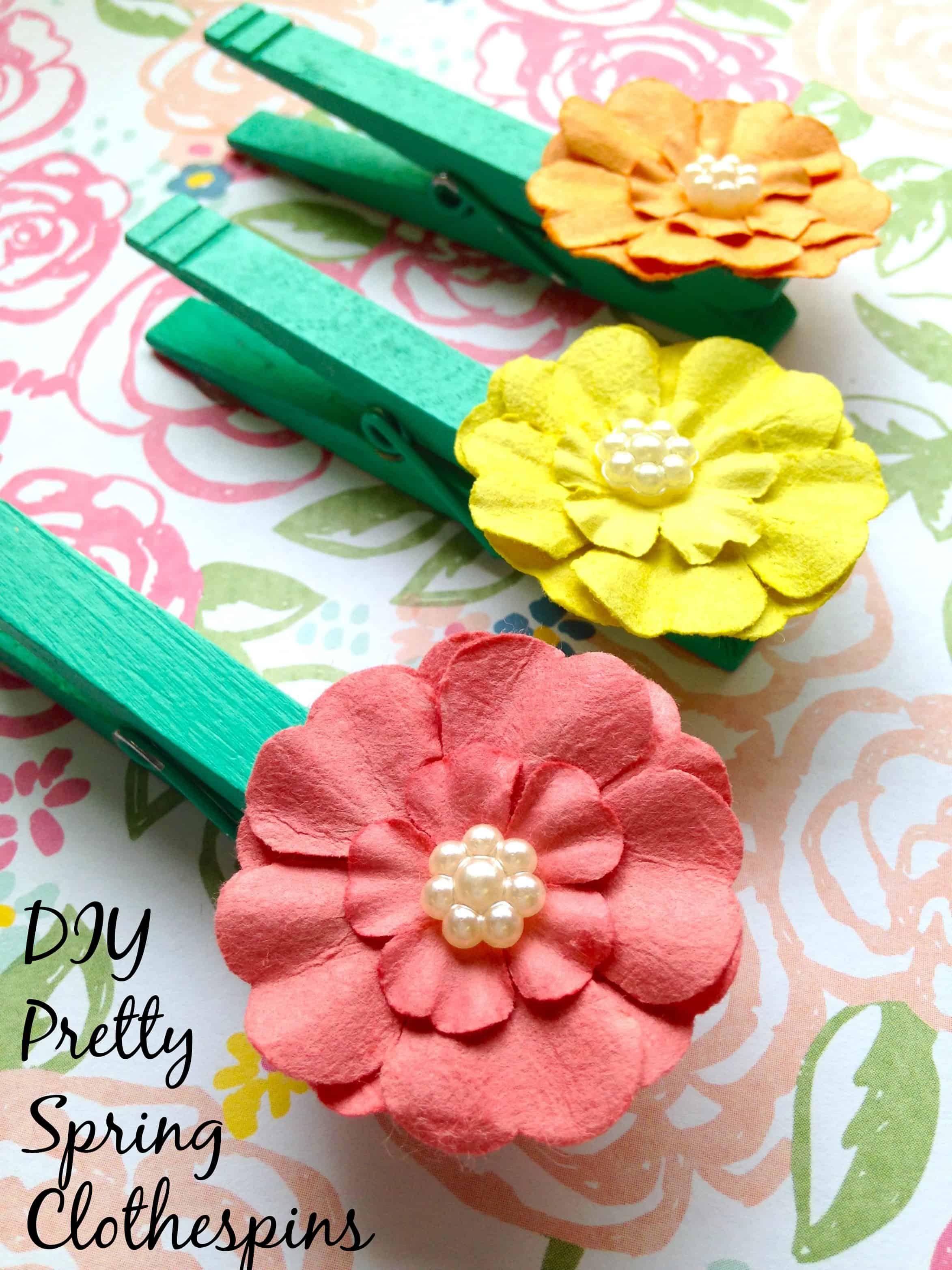 DIY Home Decor Spring Clothespins