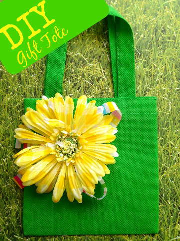 DIY Flower Gift Craft Tote Bag
