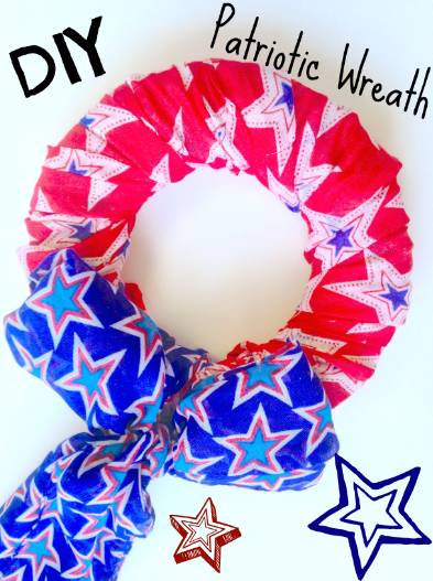 DIY Easy Simple Patriotic Wreath Decor