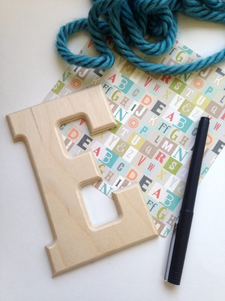 DIY Monogrammed Wall Decor Tutorial