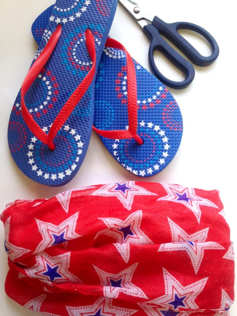DIY Patriotic Flip Flops Fashion Tutorial