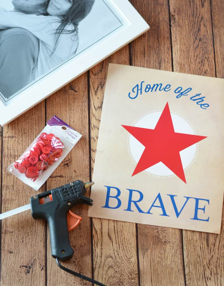 patriotic home of the brave art wall decor free printable