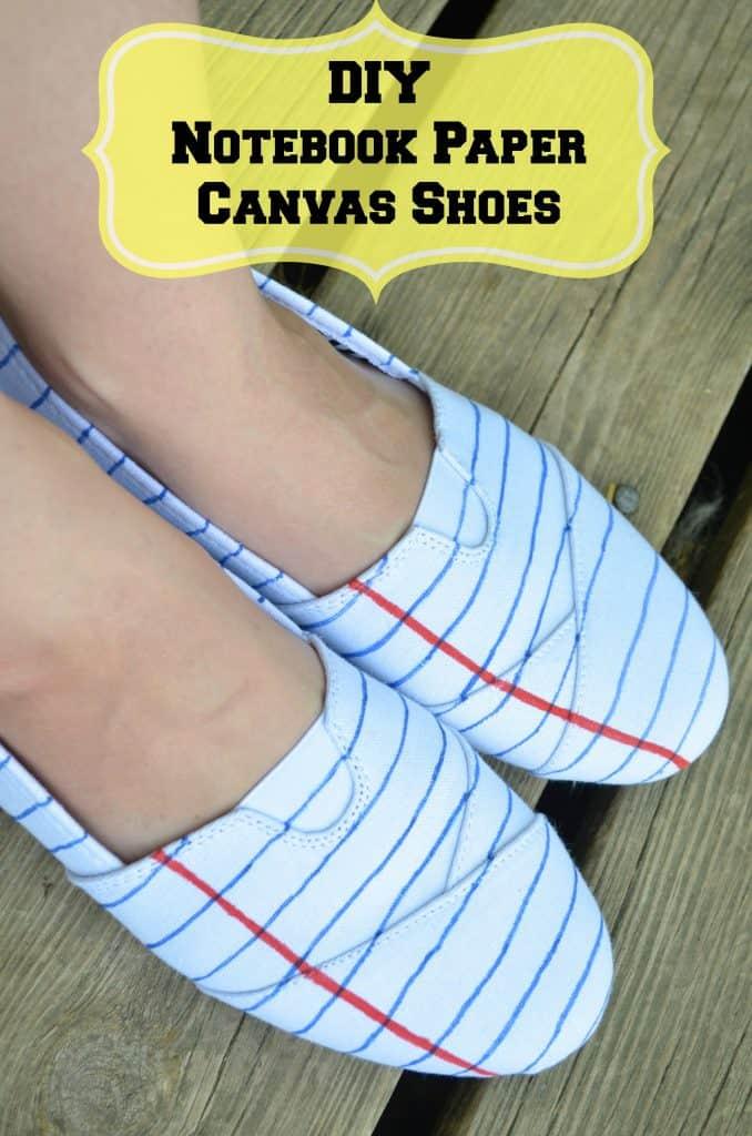 DIY Notebook Paper Fashion Teacher Shoes on a Budget - Surviving A
