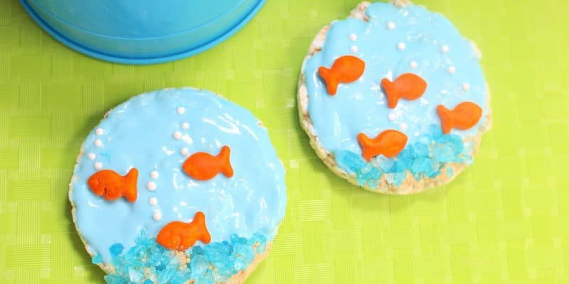 Kid's Fishbowl Ocean Beach Fun Healthy Snacks Recipe