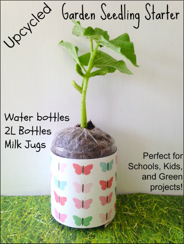 Recycled Garden Seed Starter Water Bottle