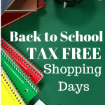 back to school tax free shopping days