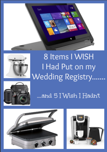 8 items i wish i put on my wedding registry for Things to put on wedding registry
