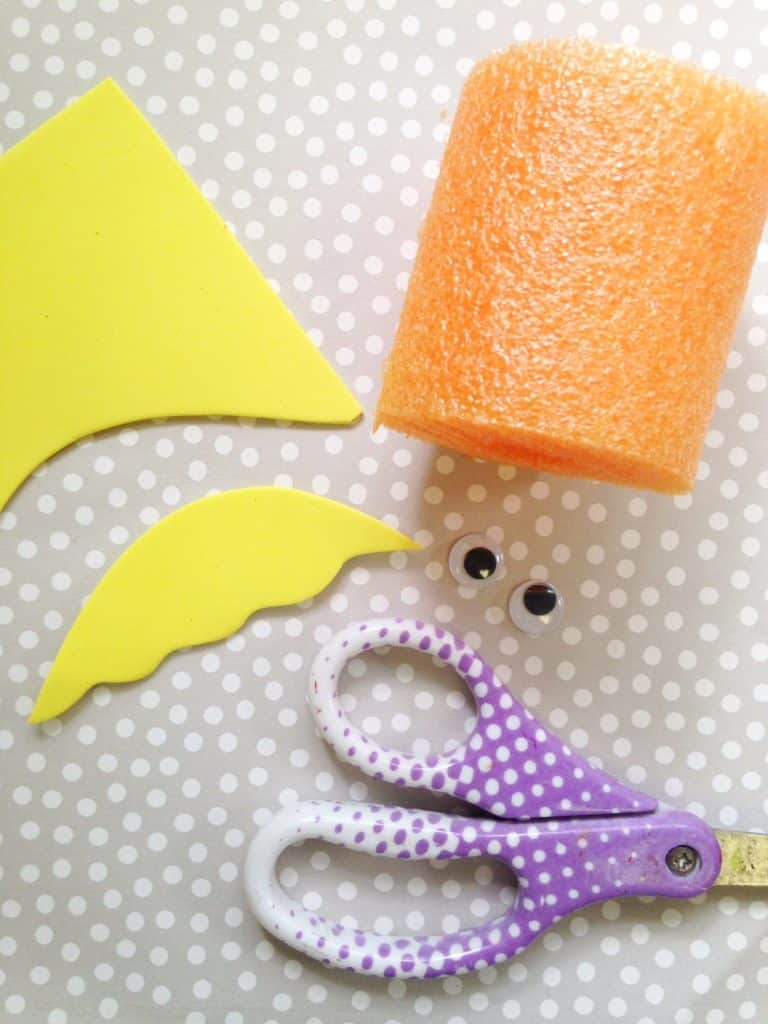 Dr Seuss the Lorax Pool Noodle Kids Craft