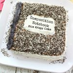 Composition Notebook Back to School Cake