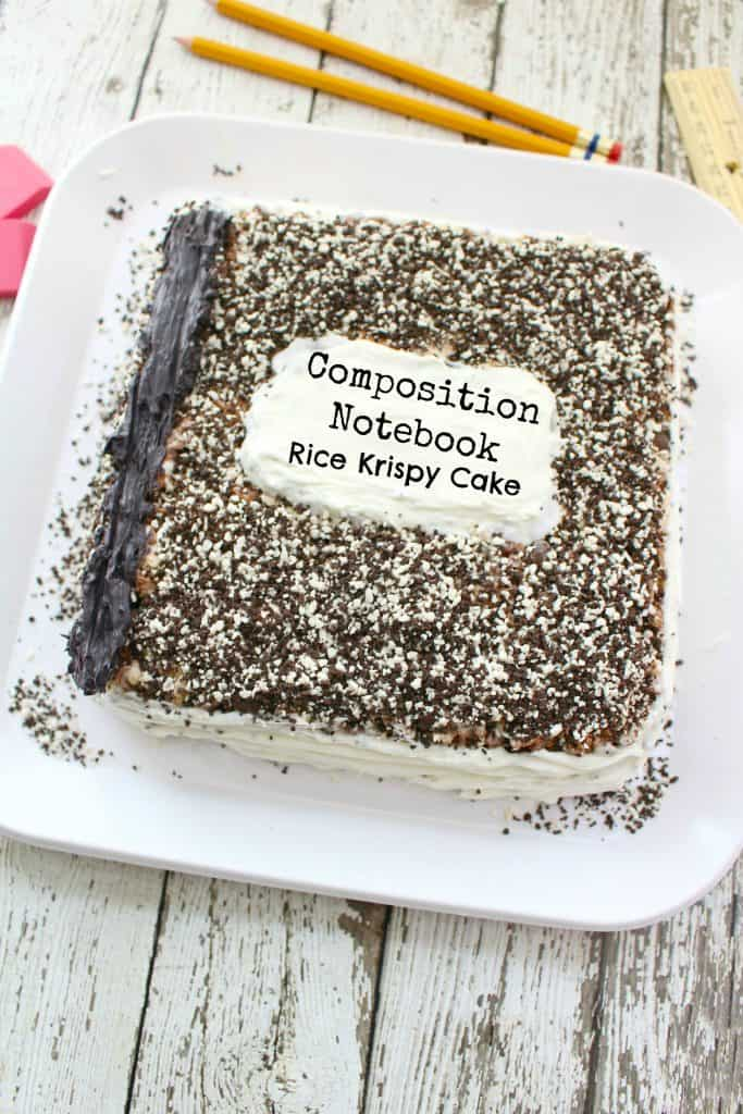 Composition Notebook Back to School Cake Recipe