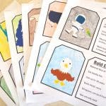 FREE Patriotic History Trading Flash Cards for Kids