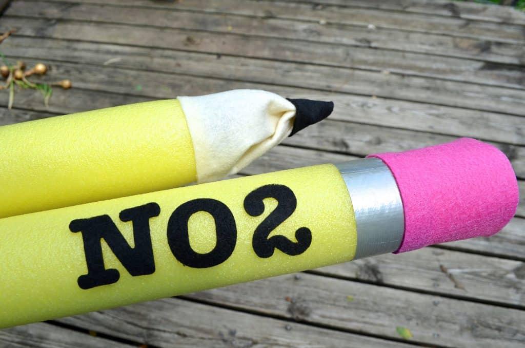 DIY Back to School Pencil Pool Noodle Decor