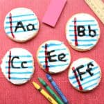 Back to School Letter Notebook Cookies