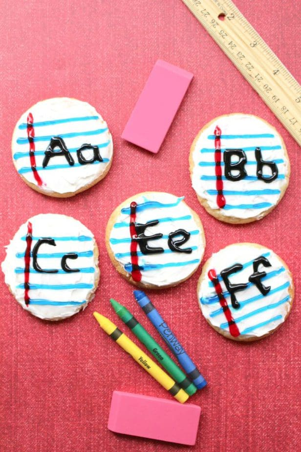 Back to School Recipe - ABC Letter Notebook Cookies