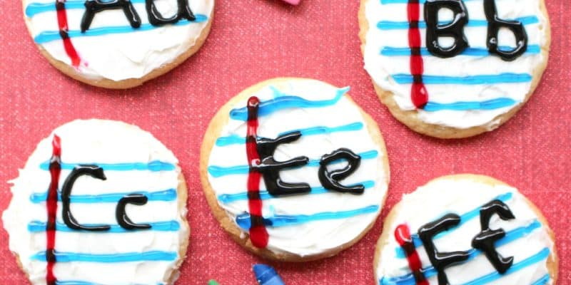 Back to School Recipe – ABC Notebook Sugar Cookies
