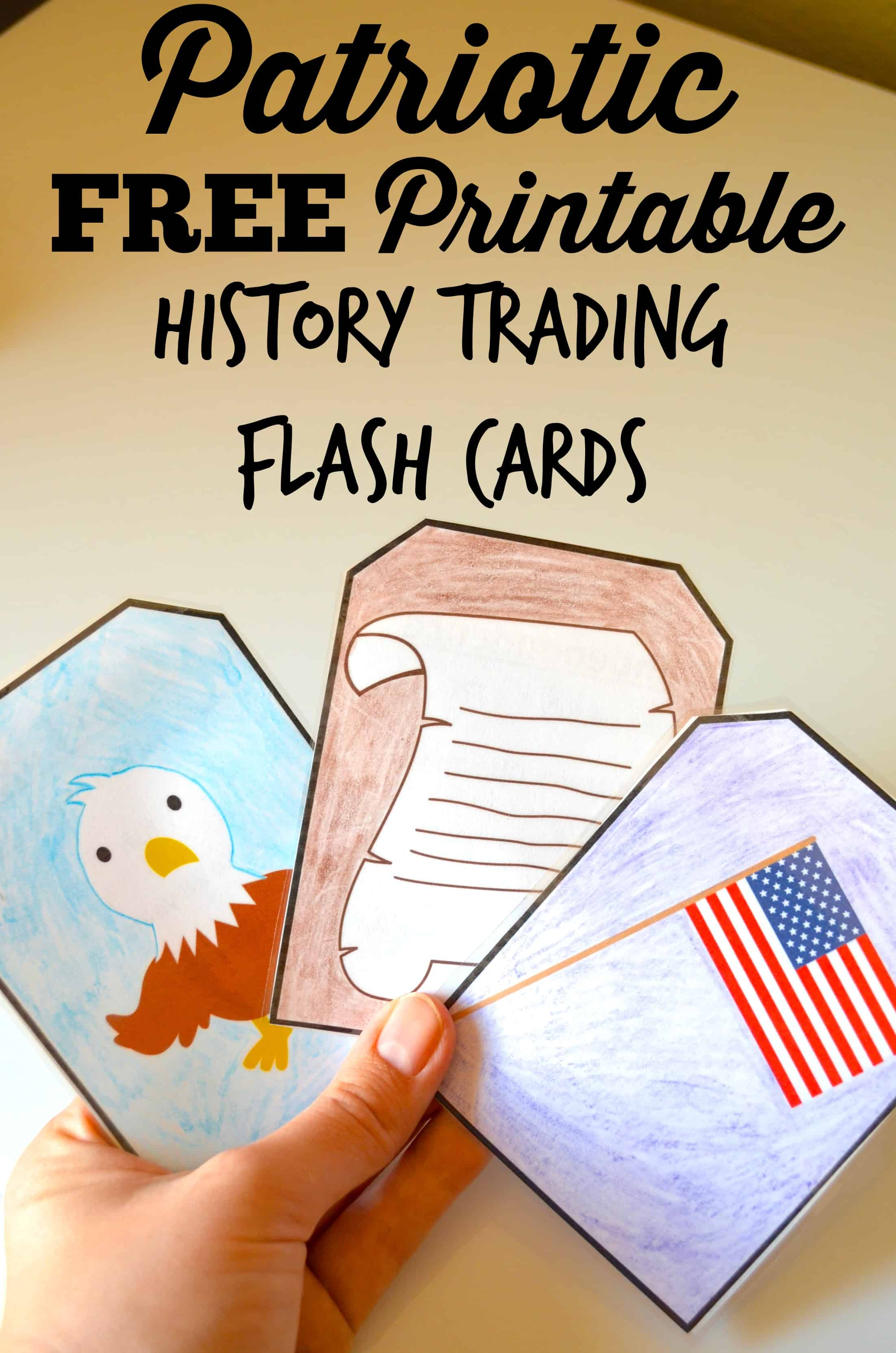 Free Patriotic Printable History Trading Flashcards