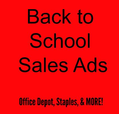 Staples Back to School Ad Sales Week 7/12/15