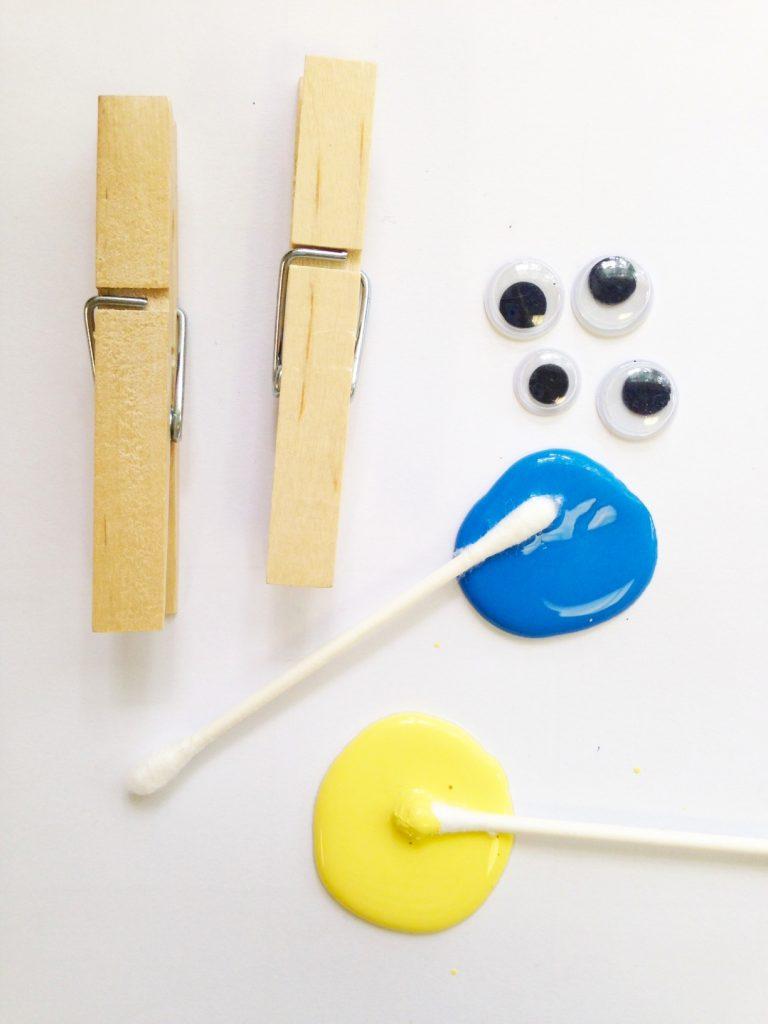 DIY Minions Clothespins craft