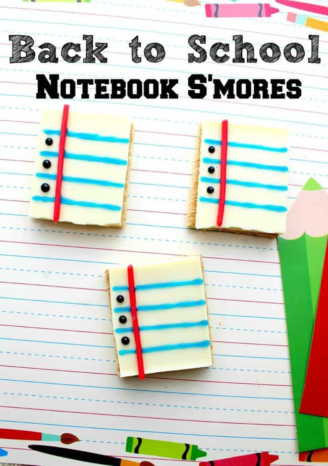 Back to School Treats - Notebook Paper S'mores Recipe
