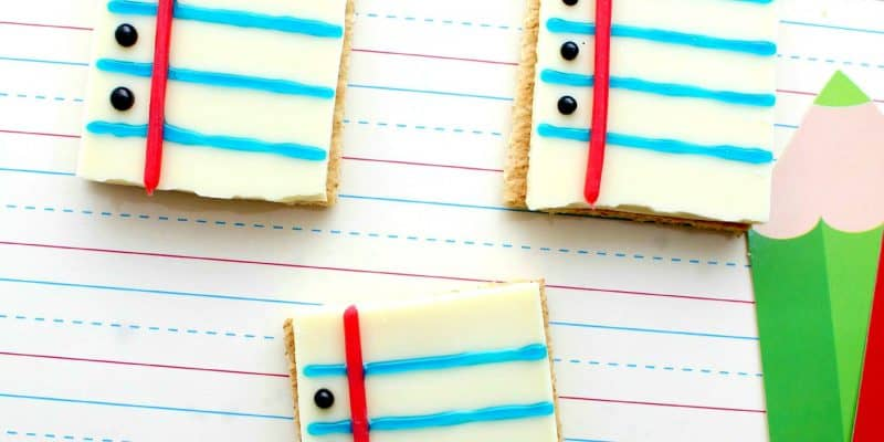 Back to School Treats – Notebook Paper S'mores Recipe