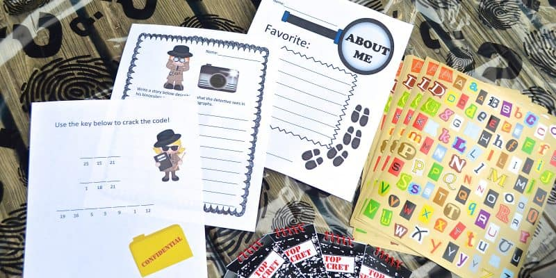 Back to School Spy Themed Classroom Time Capsule
