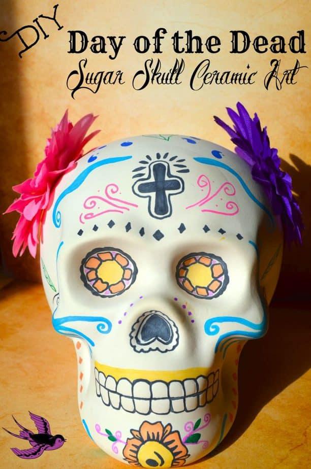 DIY Day of the Dead Sugar Skull Ceramic Art