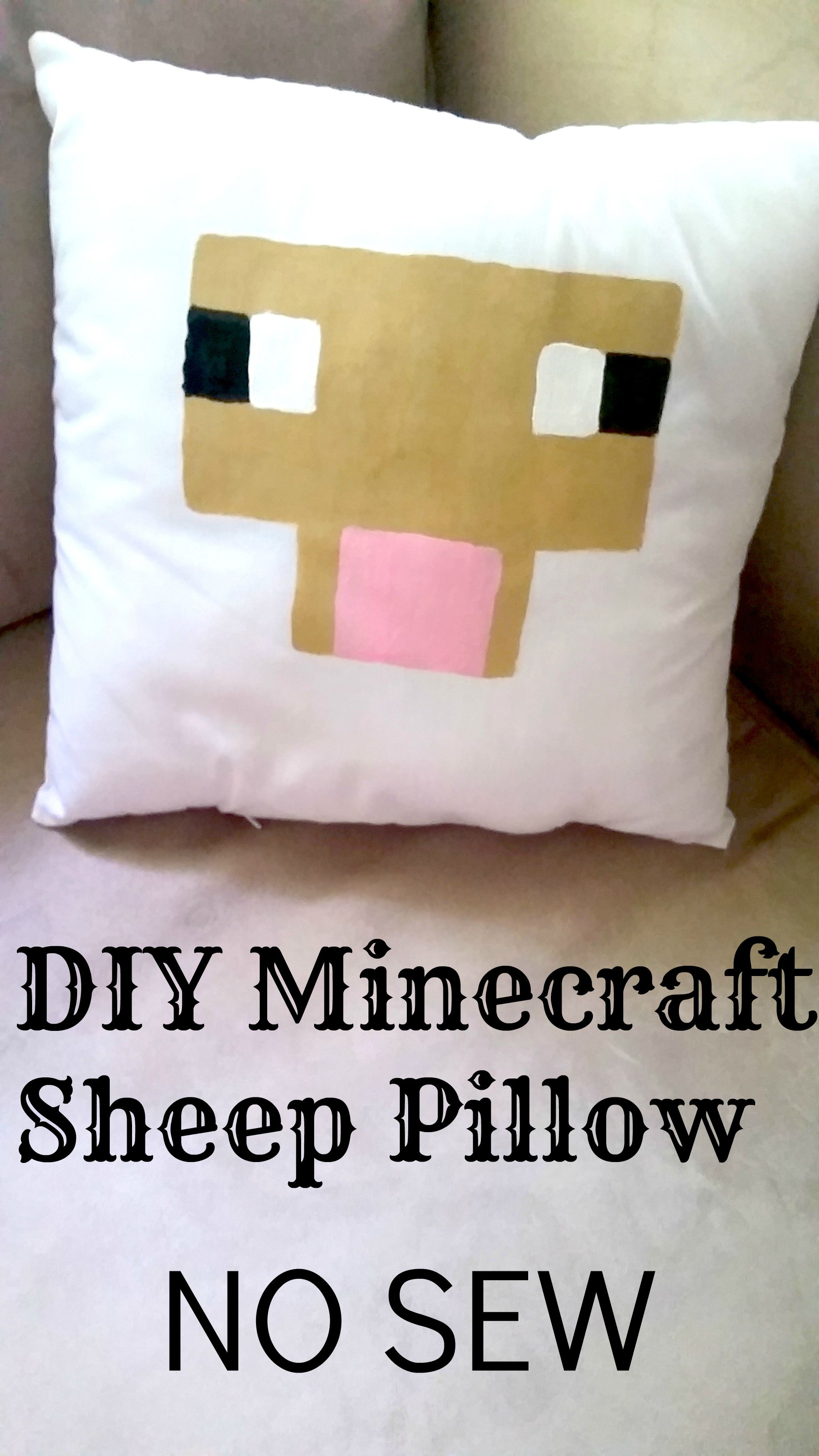 DIY Minecraft Sheep Pillow NO