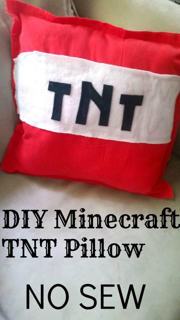 DIY Minecraft TNT Pillow Tutorial