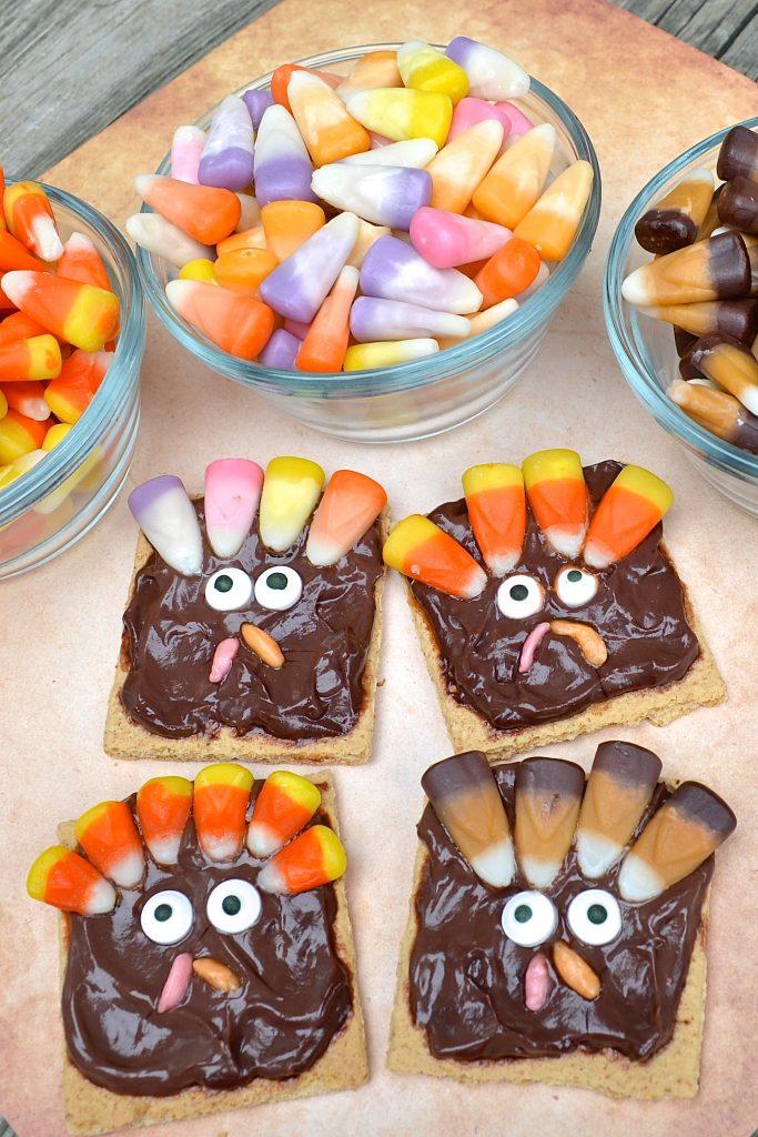 Candy Corn Thanksgiving Turkey Kid's Snack Recipe