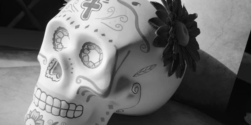 DIY Day of the Dead Sugar Skull Ceramic Art Decor